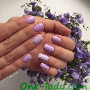 Фиолетовый маникюр фото