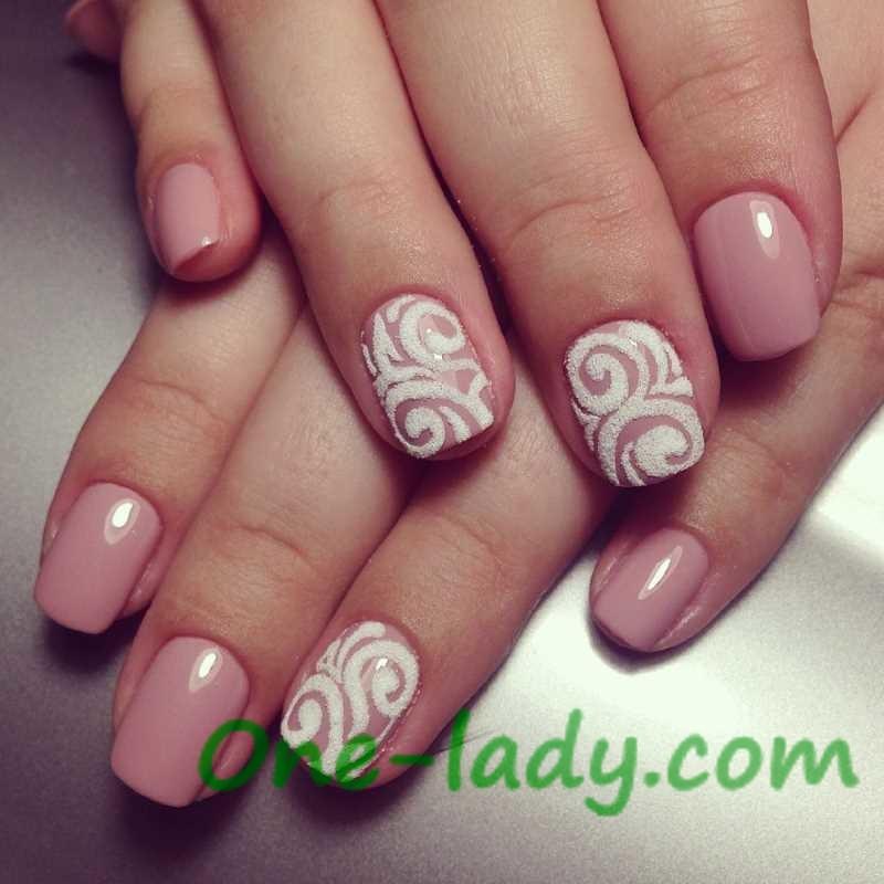 Дизайн ногтей с завитками