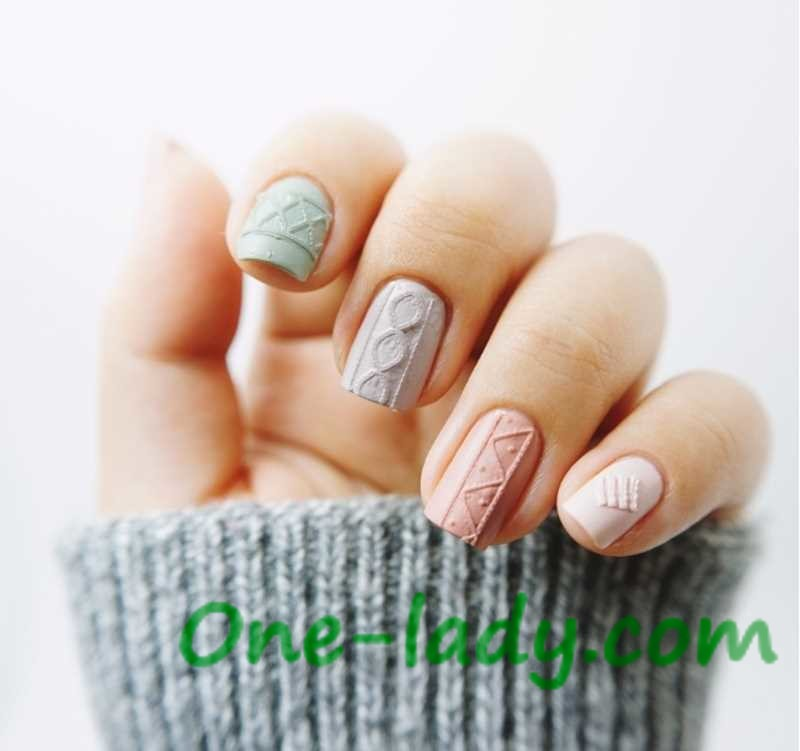Вязаный маникюр: фото идеи дизайна ногтей в домашних условиях