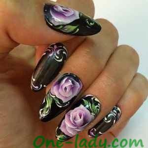 Китайская роспись на ногтях фото