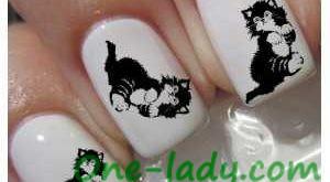 Маникюр с кошками фото