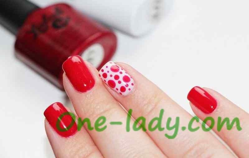 Маникюр под красное платье фото