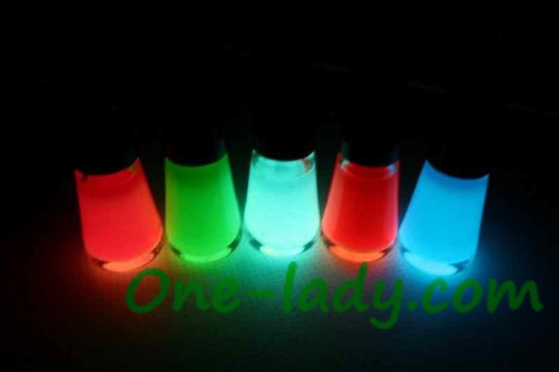 Светящиеся лак для ногтей своими руками
