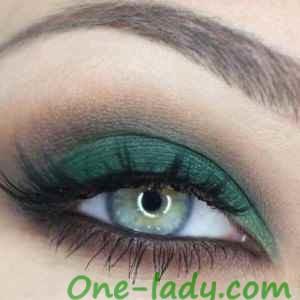 Вечерний макияж для зеленых глаз фото