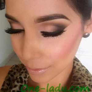Свадебный макияж для зелёных глаз фото