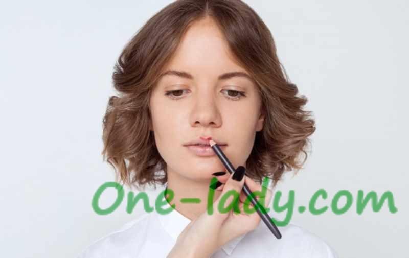 Как увеличить губы с помощью карандаша фото