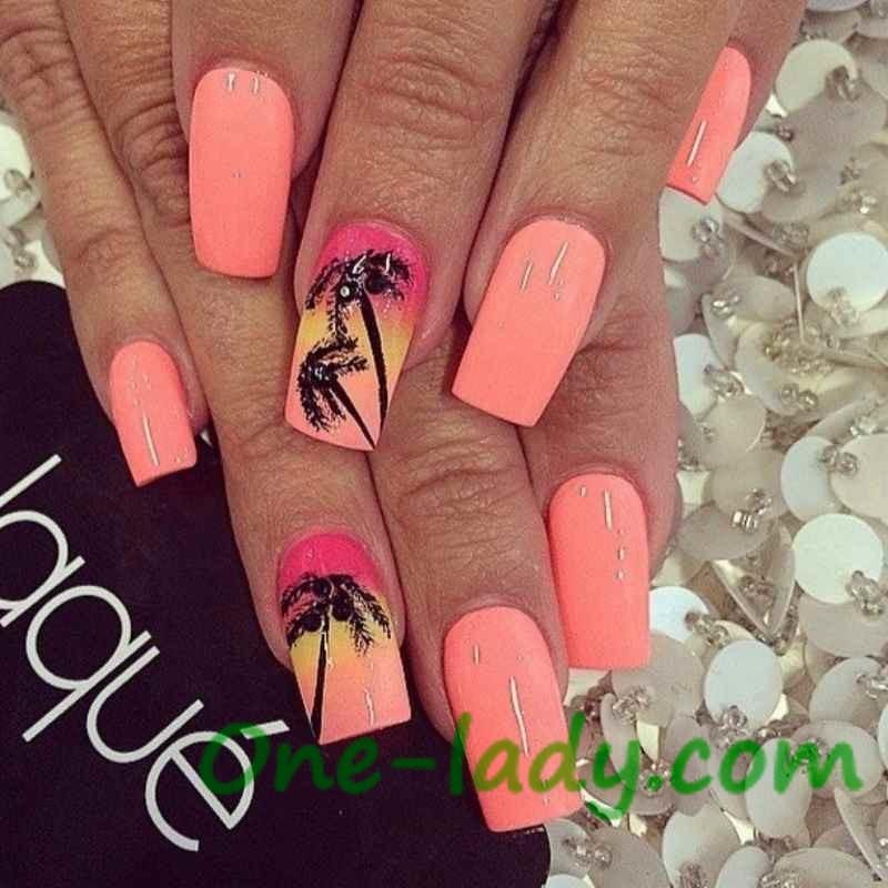 Пальмы на ногтях фото