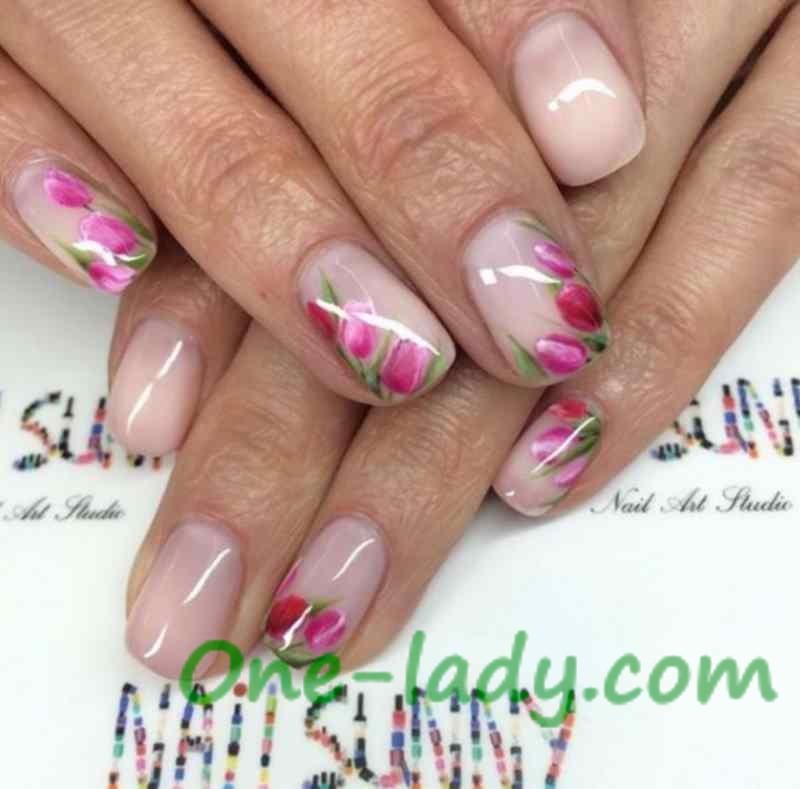 Дизайн ногтей весна фото простые