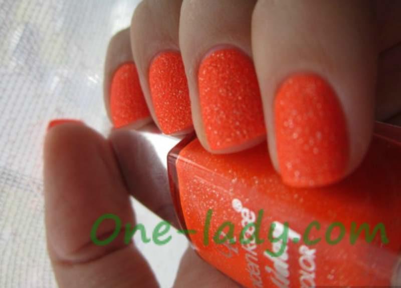 Оранжевый маникюр на коротких ногтях фото