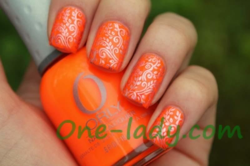 Маникюр в оранжевых тонах фото