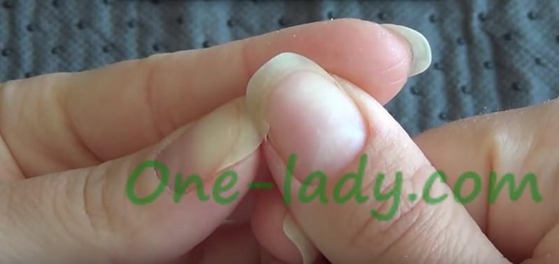 Ремонт сломанного ногтя фото