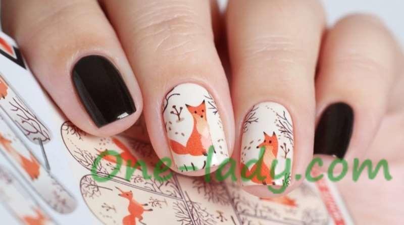 Маникюр с животными на ногтях фото